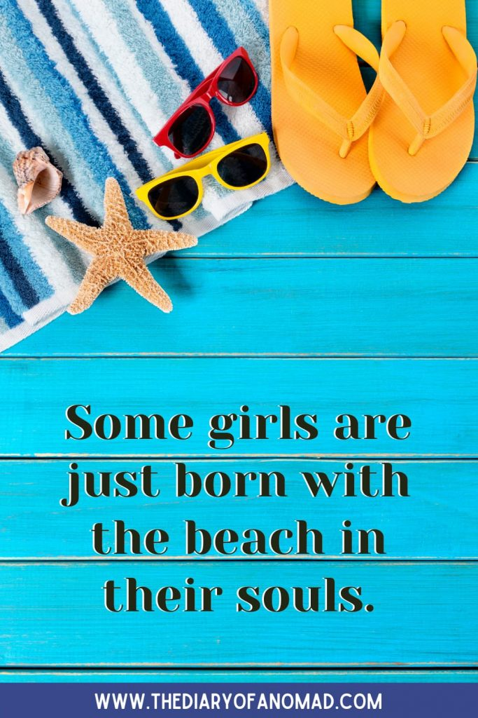 A Quote About a Beach Girl