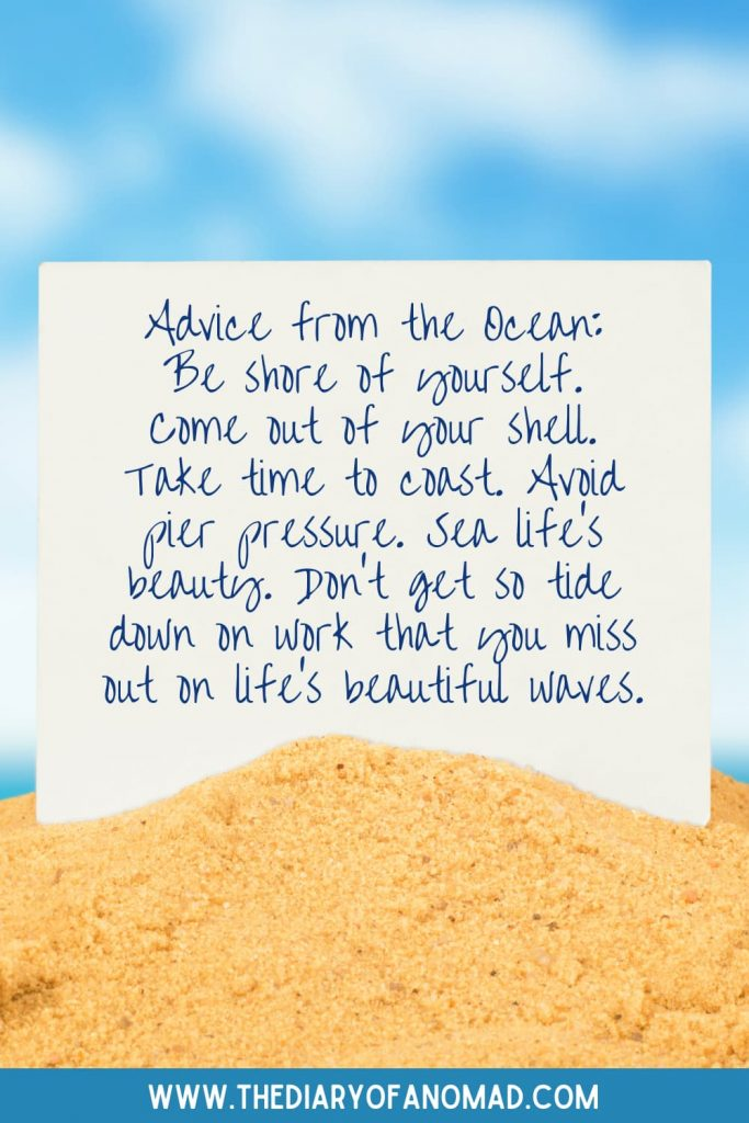 A Message From the Ocean in the Sand