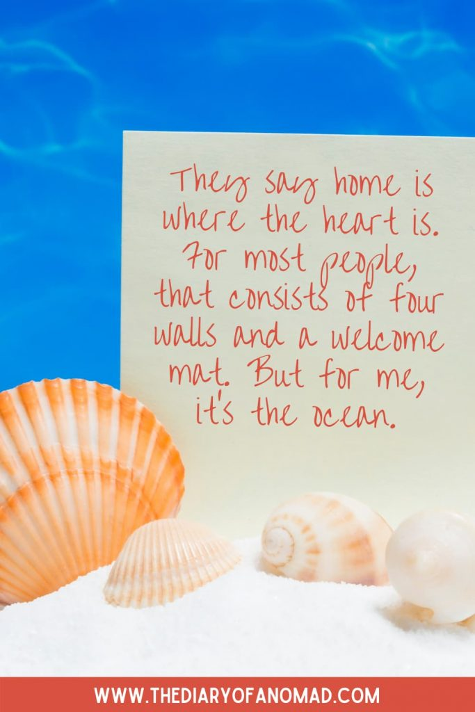 A Beach Life Quote on a Note Next to Seashells
