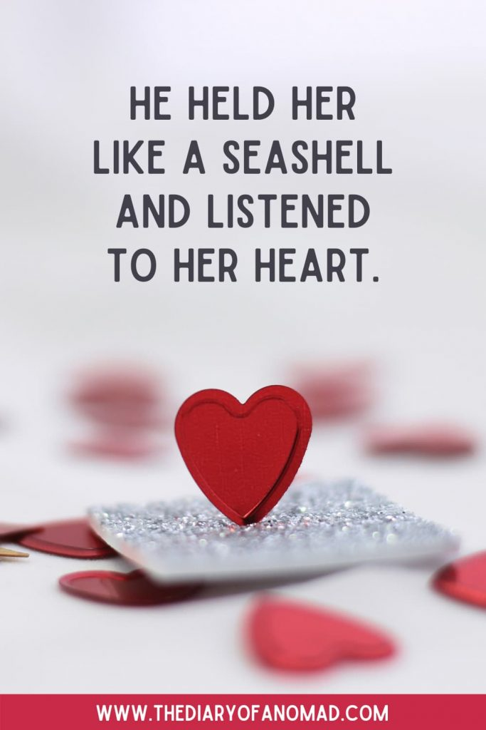 A Beach Love Quote On Top of a Heart
