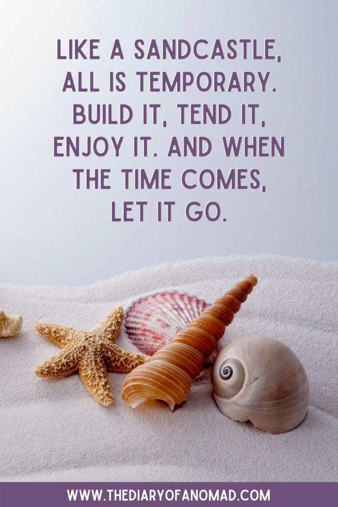 A Life Beach Quote Next to Seashells