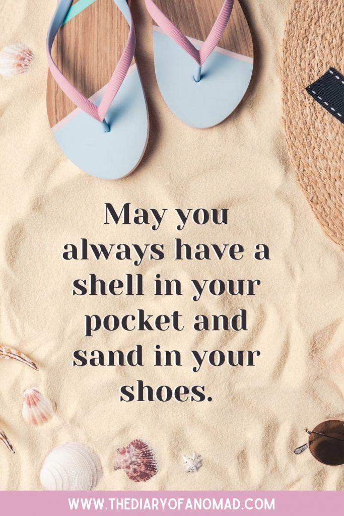 Flip Flops and Seashells on the Sand