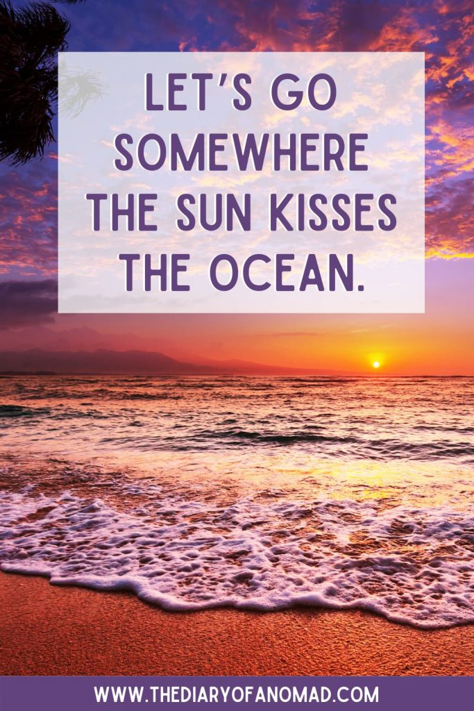 A Quote About Sunset on the Beach