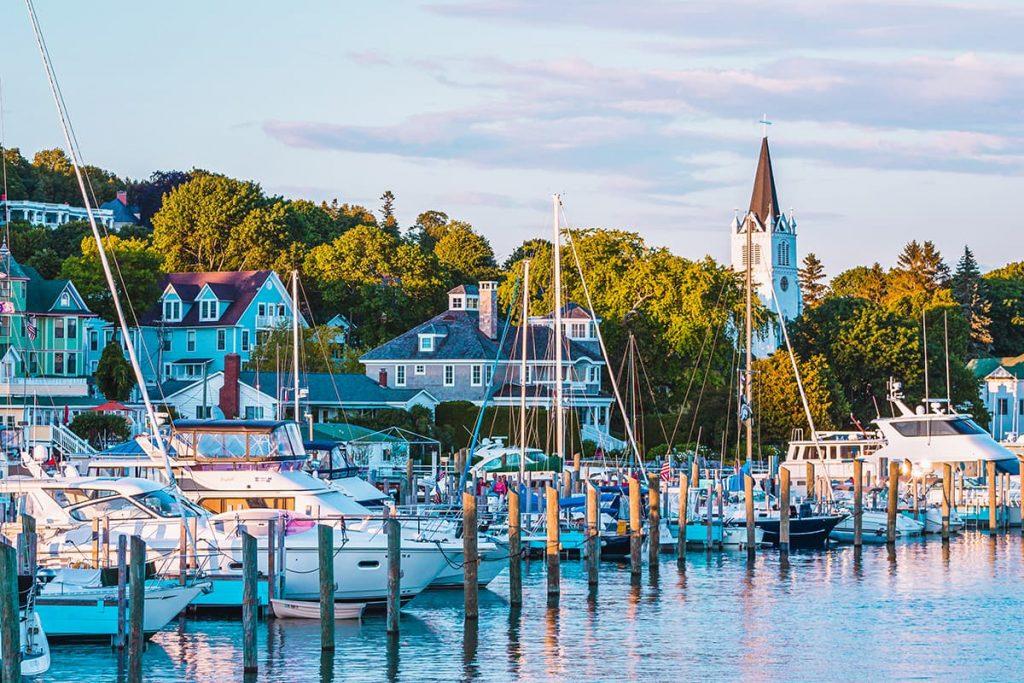 The Harbor at Mackinac Island in Michigan