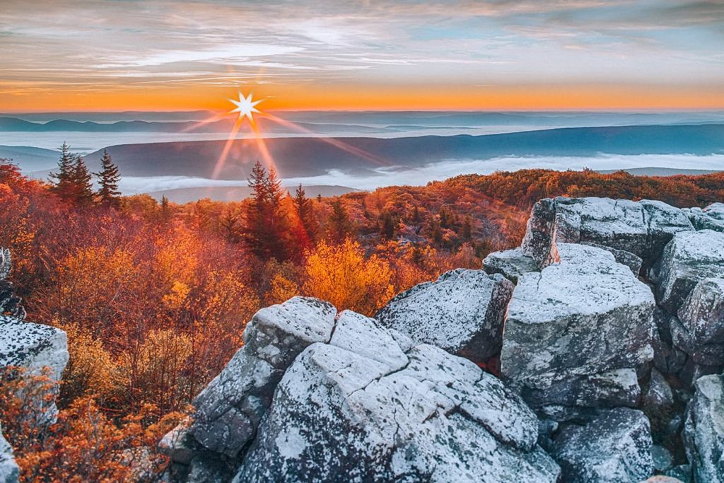 Sunrise in the Allegheny National Forest in Pennsylvania
