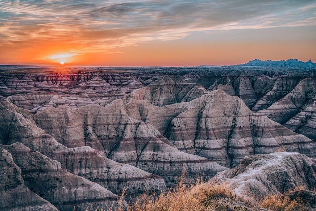 Sunrise Over Badlands National Park in South Dakota, USA