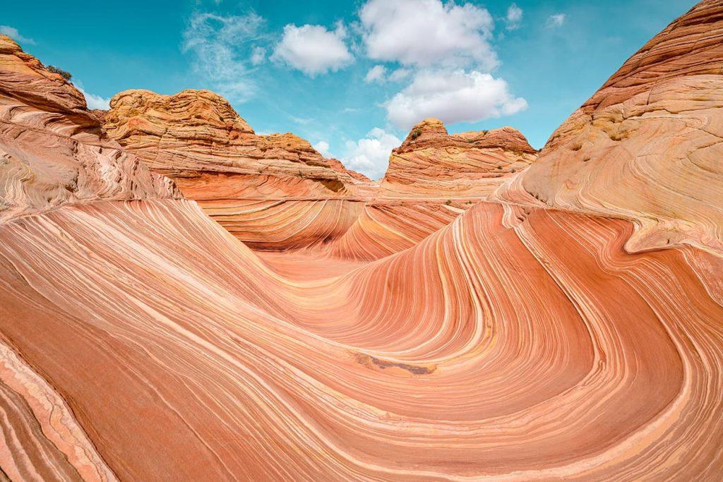 The Wave in Kanab, Utah