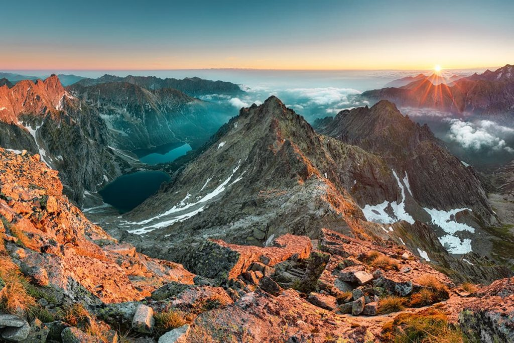 A Sunrise at the High Tatras, Slovakia
