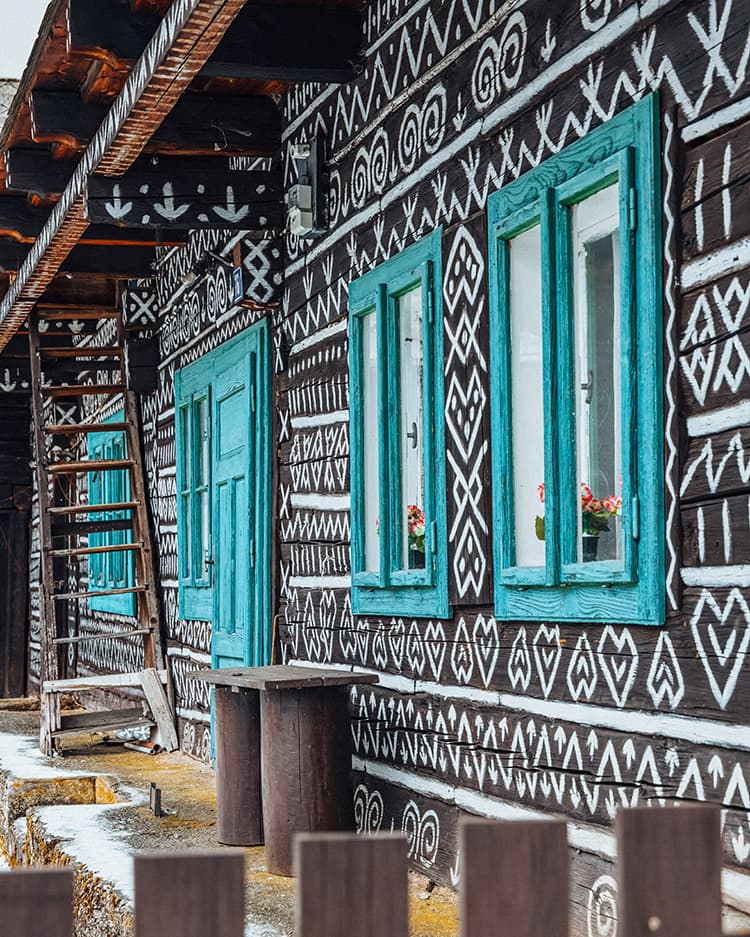 Traditional Log Houses in Cicmany, Slovakia
