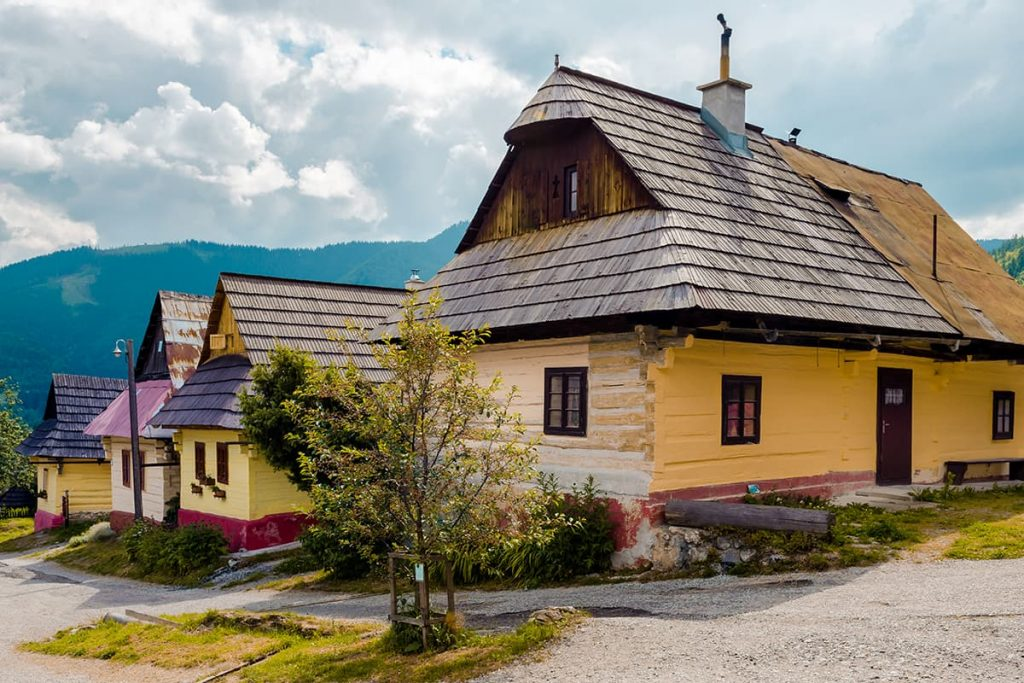 Houses in the Traditional Village of Vlkolínec, Slovakia