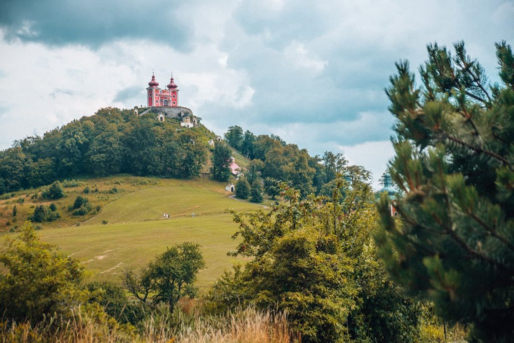 A Church on a Hill in Banska Stiavnica, Slovakia