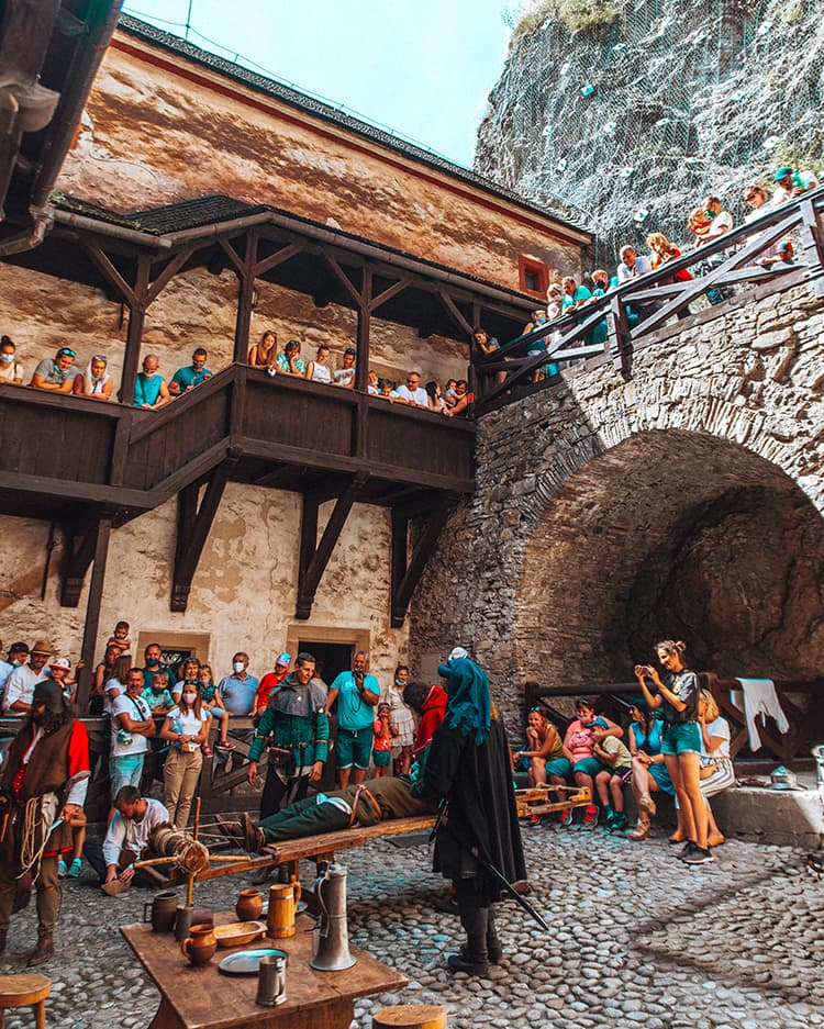 A Medieval Performance Inside Orava Castle in Slovakia