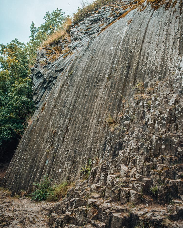 Stone Waterfall Below Somoska Castle, Slovakia