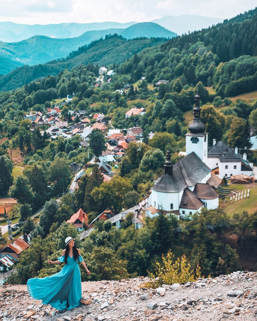 A Girl Admiring the View in Spania Dolina, Slovakia