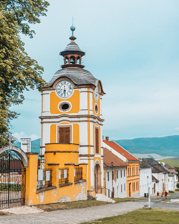 A Yellow Building in Slovakia