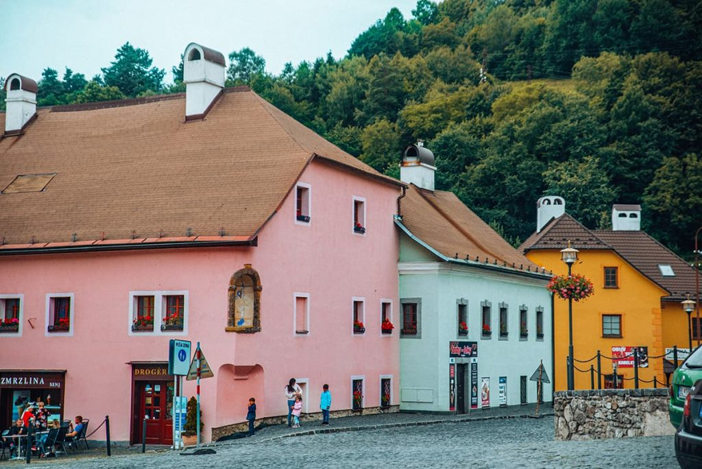 Colorful Buildings in Kremnica, Slovakia