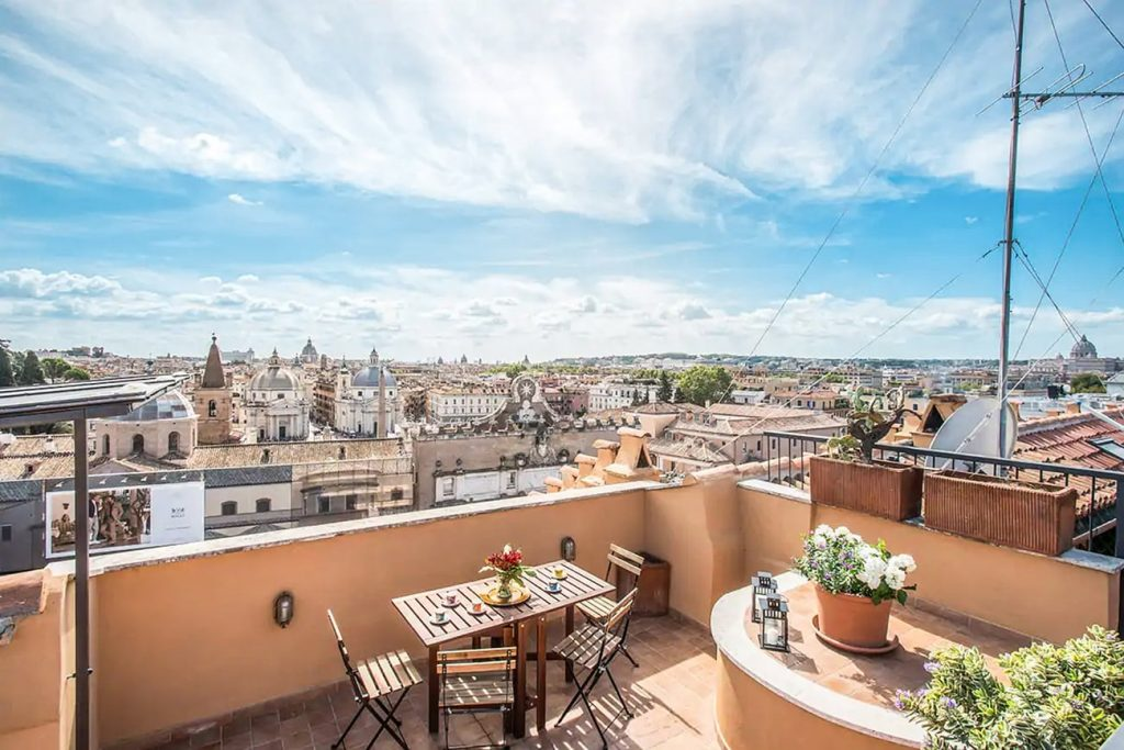 A Flat in Rome With a View of Piazza del Popolo From the Terrace