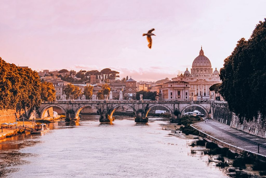 The View of the Vatican From Ponte Umberto I in Rome, Italy