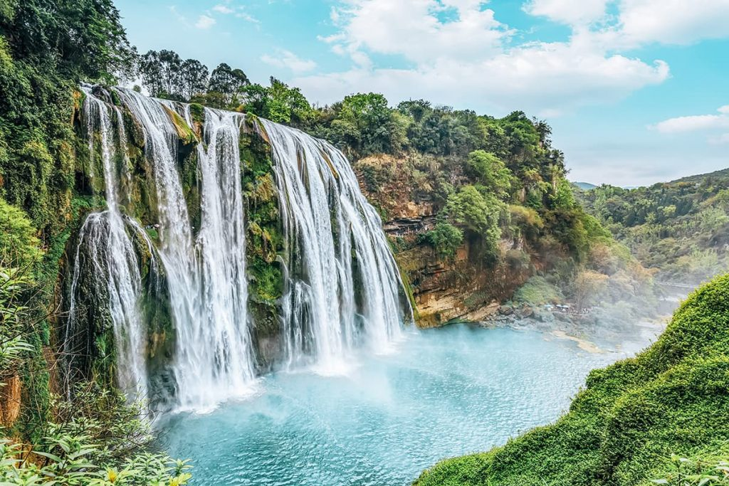 A Waterfall in China